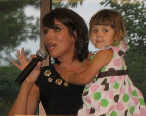 Abortion survivor, Melissa Ohden with her little girl
