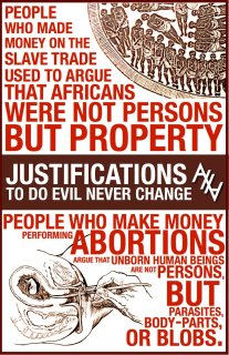 Is there any difference between abortion and slavery?