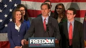 Republican presidential candidate, Rick Santorum