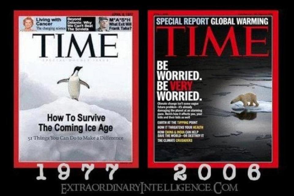 Global warming vs. the ice age