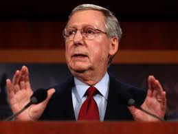 "Senate Minority Leader, Mitch McConnell: ""Let the president have his vote."""