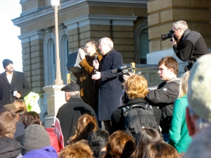Governor Branstad speaks at the Iowa March for Life