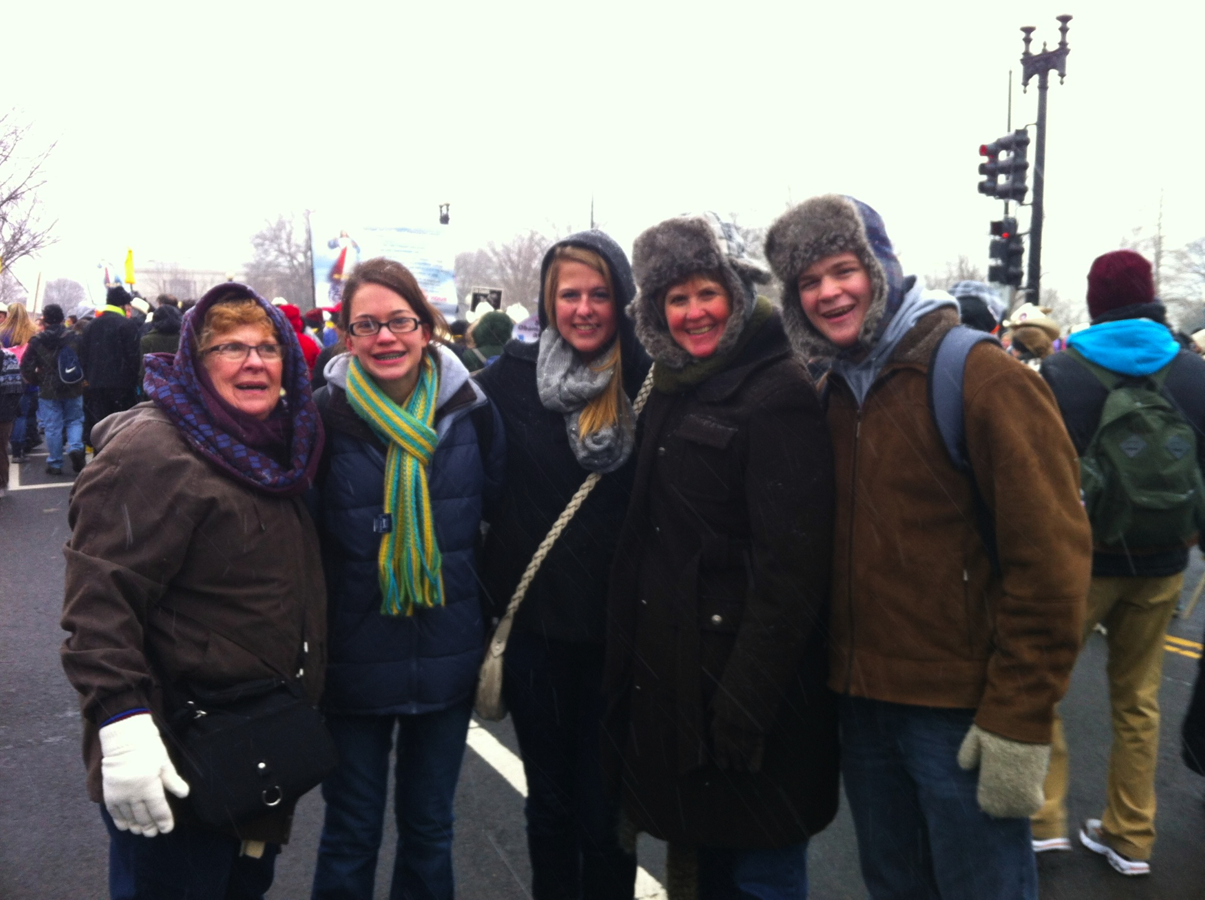 The Bishop family trekked to the March for Life to pray for human rights. They represent America.