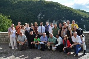 Bourne and fellow Catholic journalists from around the world meet in Rome