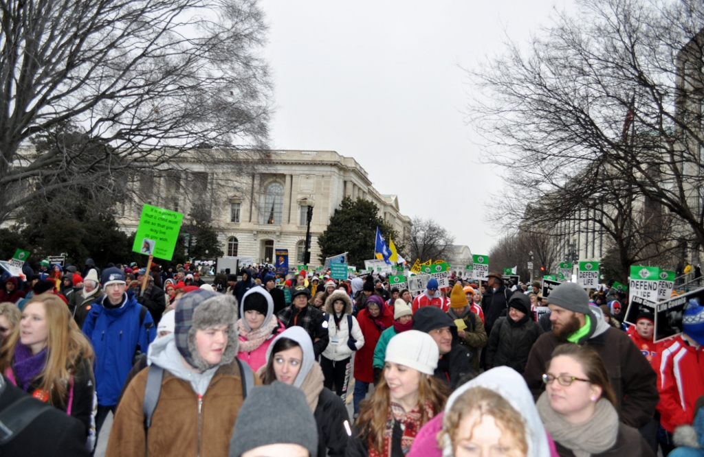 Eighty percent of the 700,000 participants in this year's March for Life were youth
