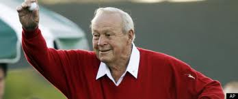The 83 year old Arnold Palmer hits a beauty at the Masters