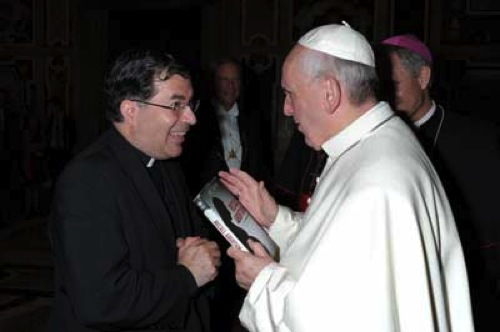 Fr. Frank Pavone meets with Pope Francis