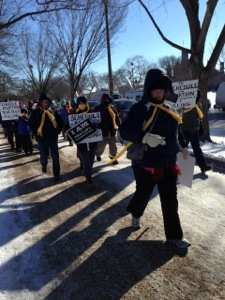The March for Life begins. Thanks to Quiner's Diner reader, Sally, for the photo.
