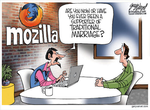 Cartoonist Gary Varvel: Mozilla and political correctness