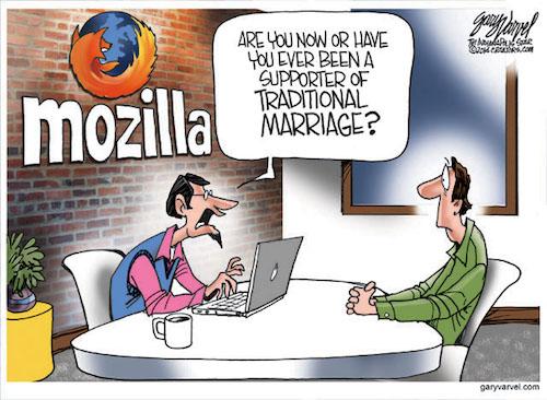 Cartoonist Gary Varvel: Mozilla and political correctness