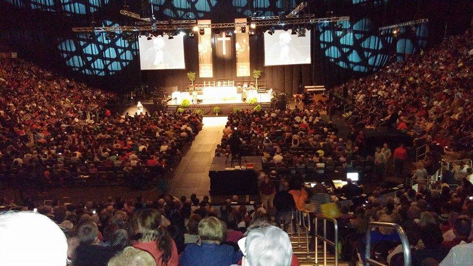 Catholics packed Wells Fargo Arena for the Christ Our Life Conference