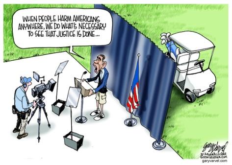 Cartoonist Gary Varvel: President Obama's responds to terrorists