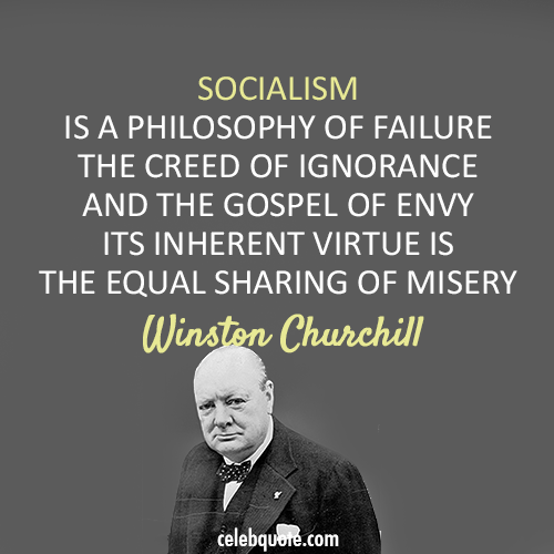 Winston Churchill Socialism Quote