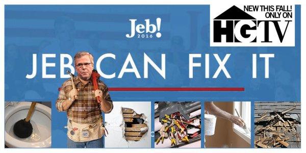 Jeb's! new slogan is getting parodied on Twitter
