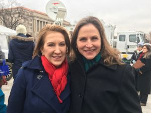 Carly Fiorina at the March for Life with the LifeSite News reporter, Lisa Bourne
