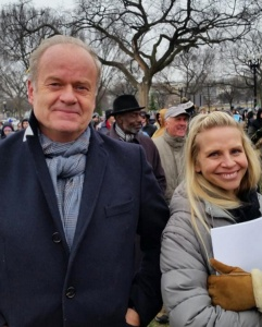 Actor, Kelsey Grammer and wife at the 2016 March for Life