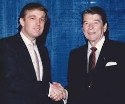 Donald Trump (left), always a boy. Ronald Reagan (right). always a man