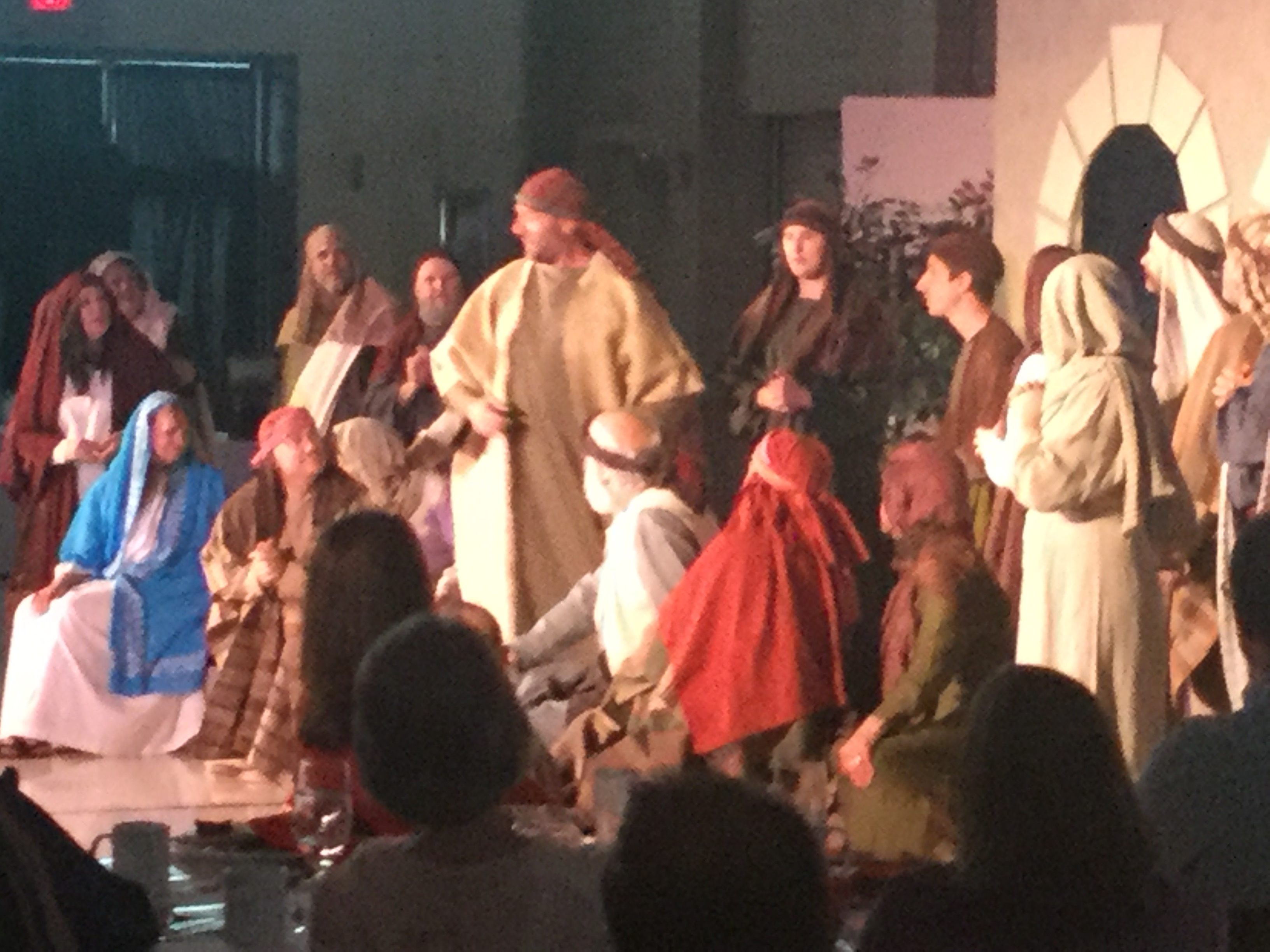 Scene from THE FIRE AND THE MERCY, The Pentecost Musical
