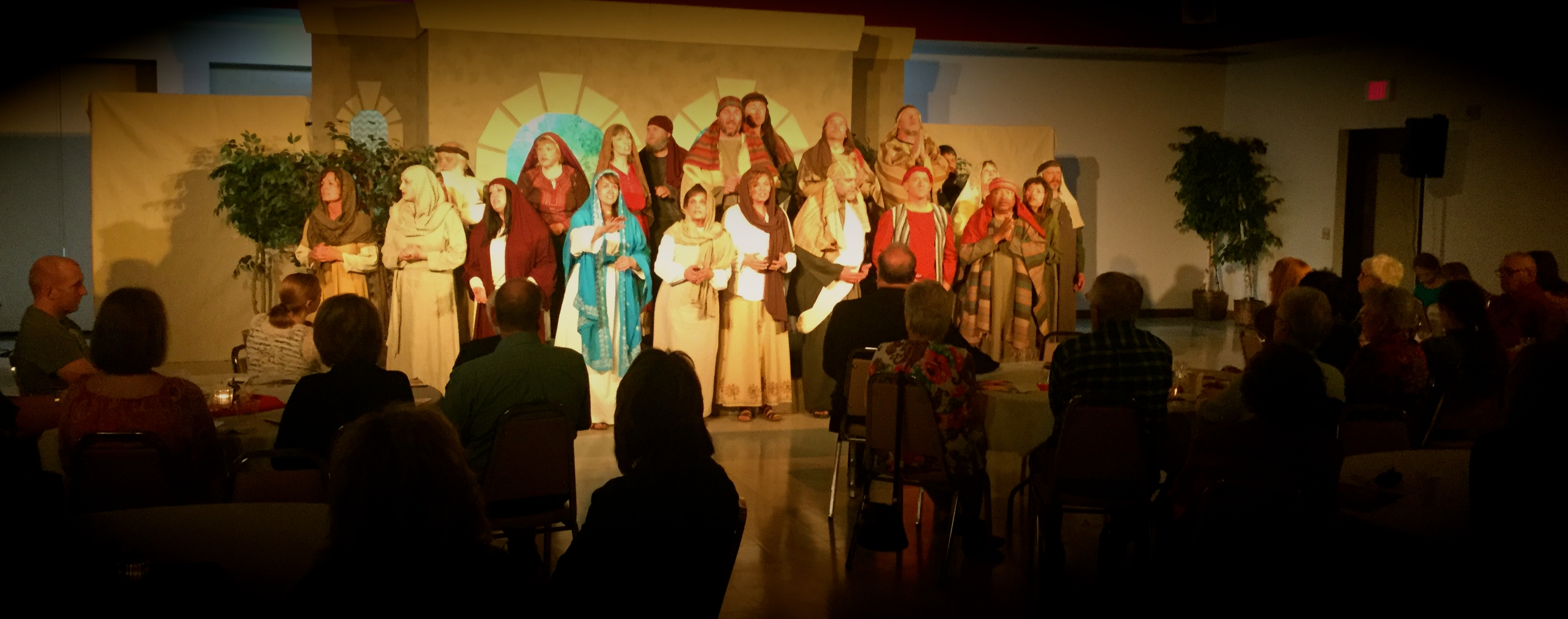 THE FIRE AND THE MERCY is being performed in a dinner theater format in 8 different churches